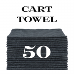 50 charcoal gray cart towels