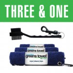 Greens Towel 3&1 Microfiber Towels and Club Brush