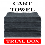 Charcoal Gray Cart Towel Trial Box