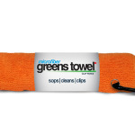 Orange Microfiber Golf Towel