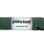 Forest Green Microfiber Golf Towel