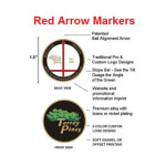 Custom Red Arrow Ball Markers