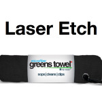 Laser Etch Custom Logo Microfiber Golf Towel Black