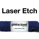 Laser Etch Custom Logo Microfiber golf towel navy blue