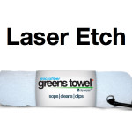 Laser Etch Custom Logo Microfiber Golf Towel White