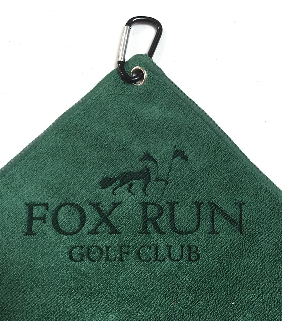 Laser Etch Custom Logo Golf Towel