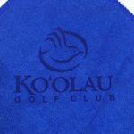 Laser Etch Blue Golf Towel Microfiber Golf Towel Royal Blue
