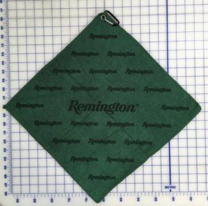 Forest Green golf towel custom laser etch logo scatter