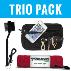 Golf Valuables Pouch with Microfiber Greens Towel