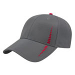 Charcoal Red Performance Golf Cap