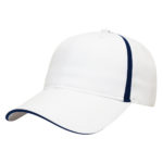 Golf outing hats white-navy soft mesh