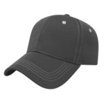 Diamond Texture Contrast Stitch Black Outing Hats