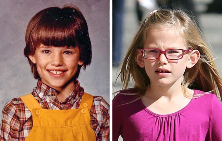12 очни снимки на знаменитости и техните деца, взети в същата възраст