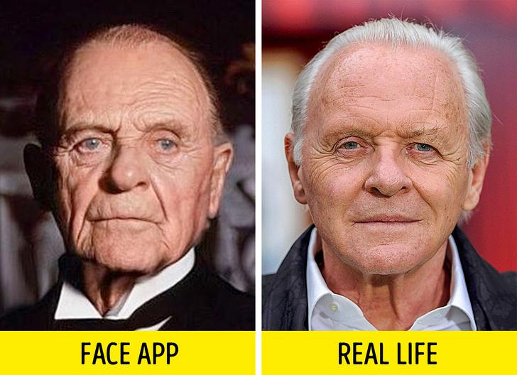 Използвахме филтъра за старостта на 15 ретро снимки на знаменитости и ги сравнихме със съвременните им снимки (никога не бихте признали Киану Рийвс)