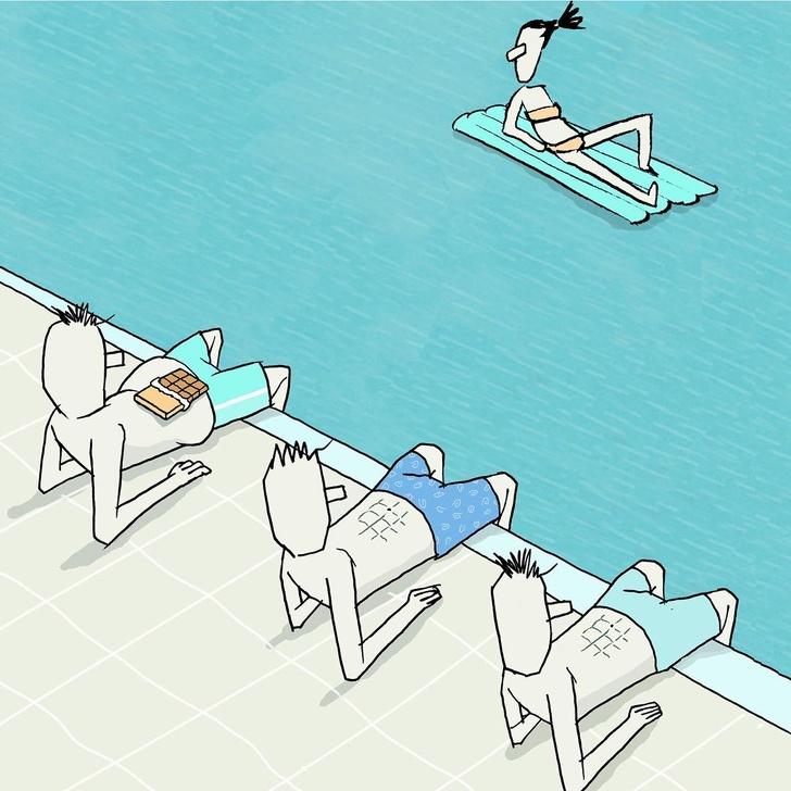 20+ илюстрации от израелски художник, които говорят по-силно от думите