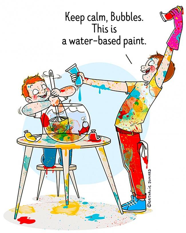 Френски художник показва какво е да си мама в честните й, въпреки това весели илюстрации