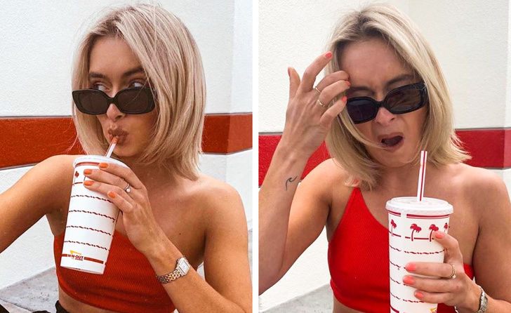 Звездата в Instagram не се страхуваше да покаже какво се случва зад кулисите на перфектните й снимки.