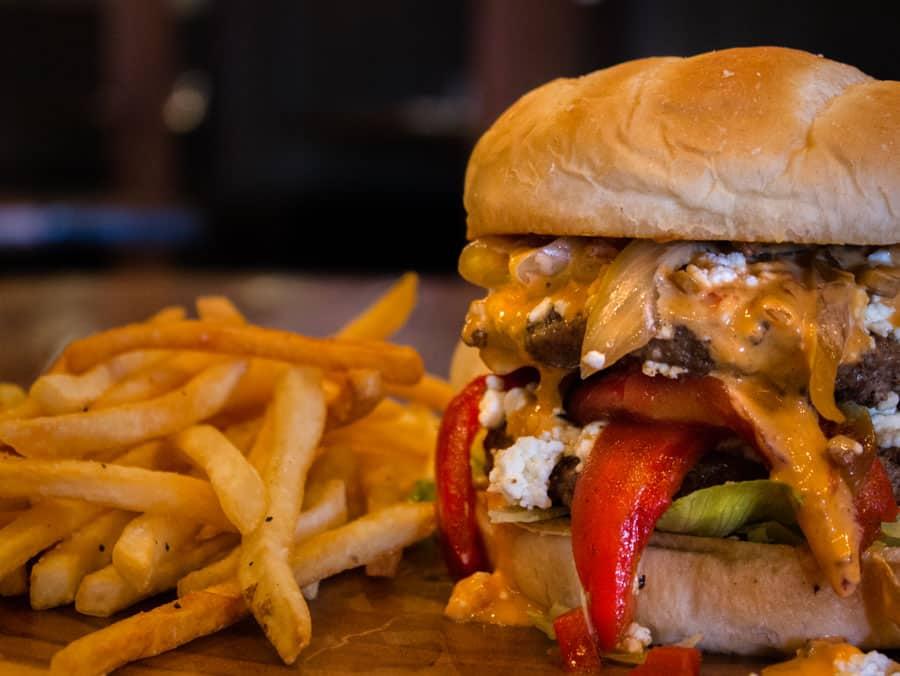 GCB Burger - The Creek Patio Grill Cave Creek Arizona 900px