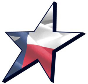 Star with Texas Flag