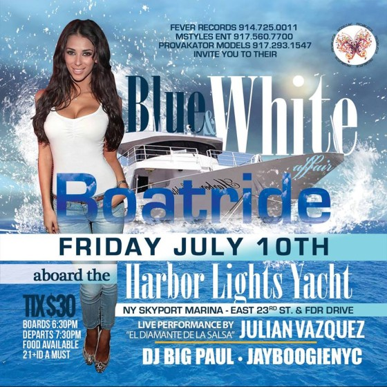 BLUE AND WHITE BOAT RIDE 7-10