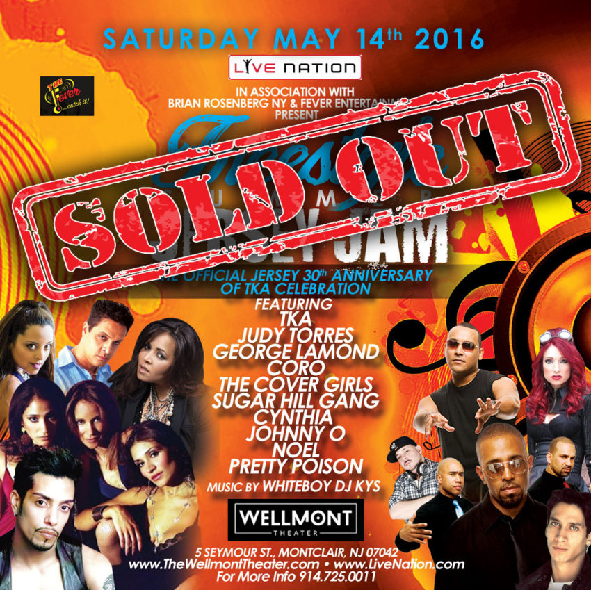 Wellmont Theater Jersey Jam 2 5-14-16 Sold Out