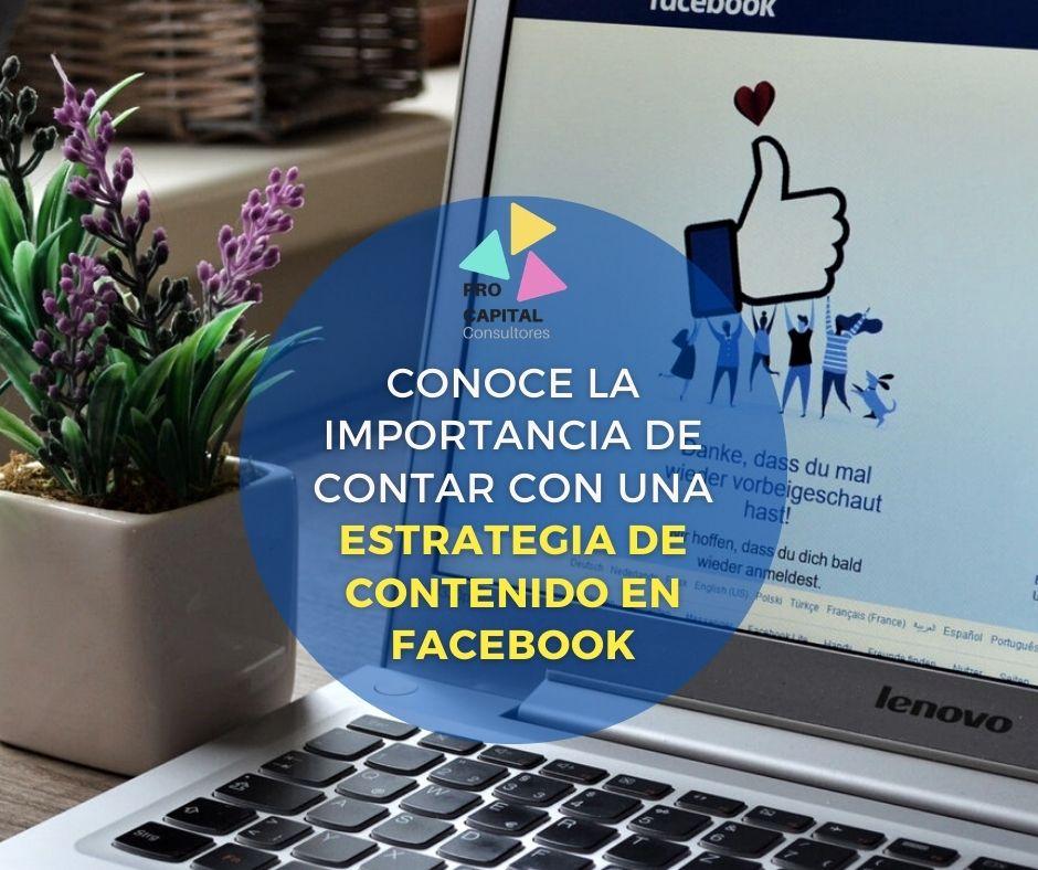 Estrategia de contenido en Facebook