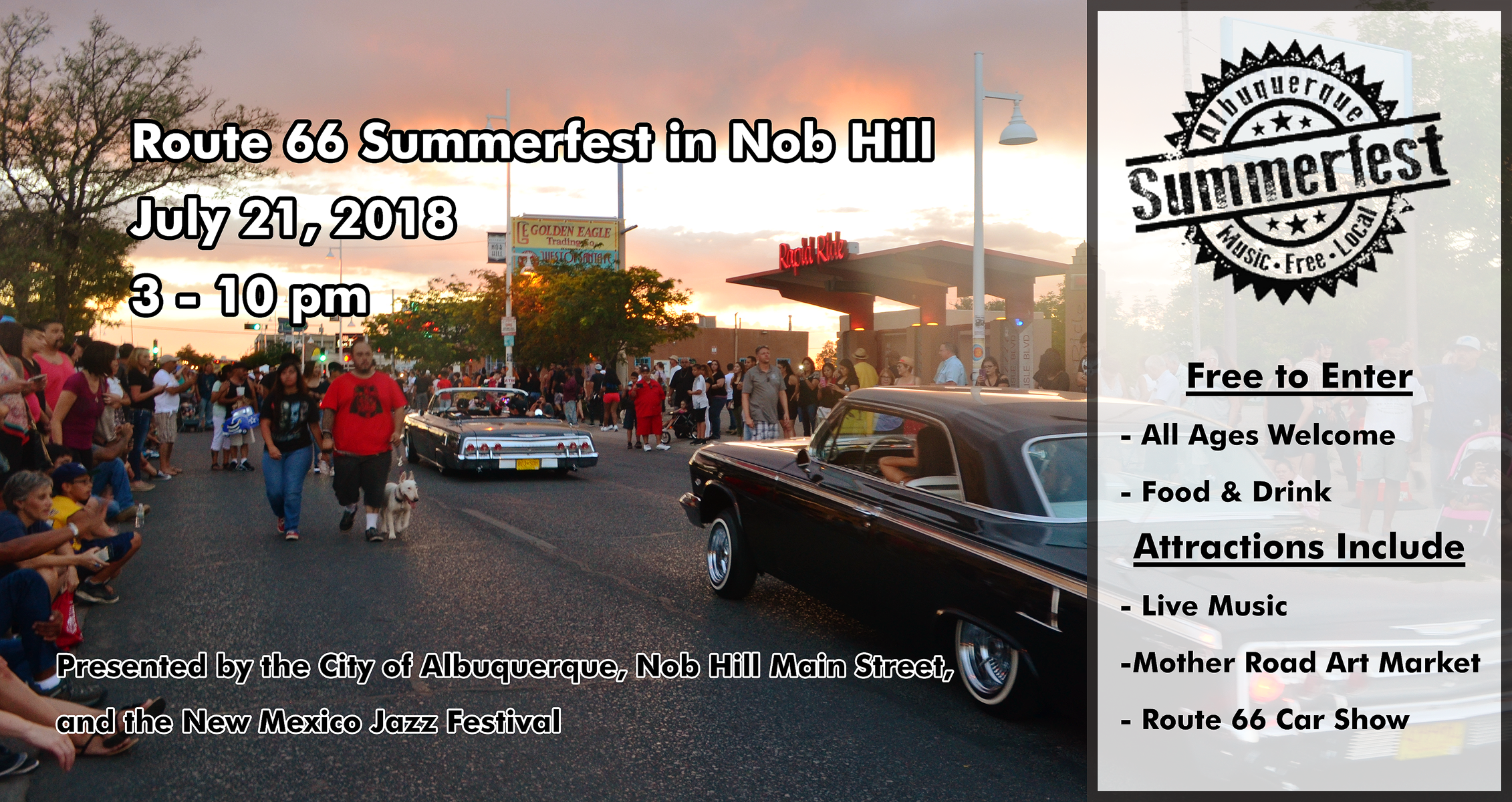 Summerfest On Route 66 In Nob Hill Nob Hill Main Street