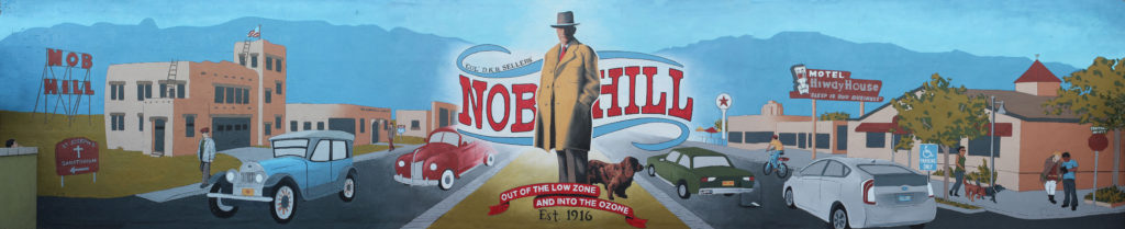 Nob Hill is 100 Celebration Mural by Aaron Stromberg