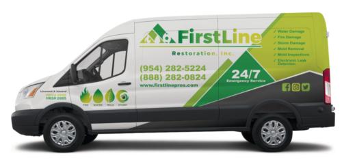 Call Now Restoration Services FirstLine Green Van
