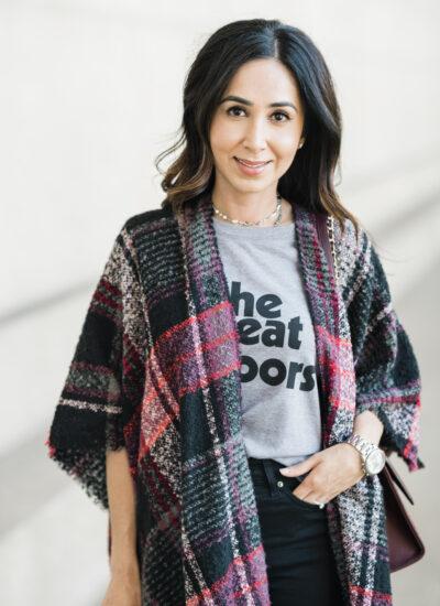 How to Style a Fall Kimono (Ruana)