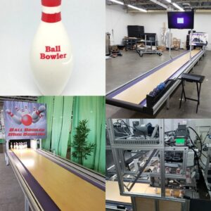 Ball Bowler Mini Bowling Pinsetter and Lane in Factory