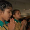Sadie likes to go to opening assembly at school where the students start each day with a prayer.