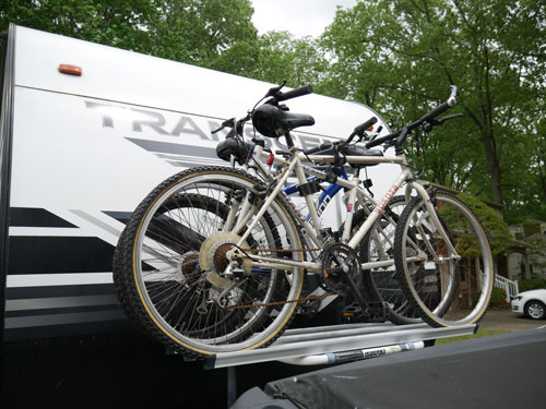 Arvika Bike Rack On Grand Design Transcend Travel Trailer
