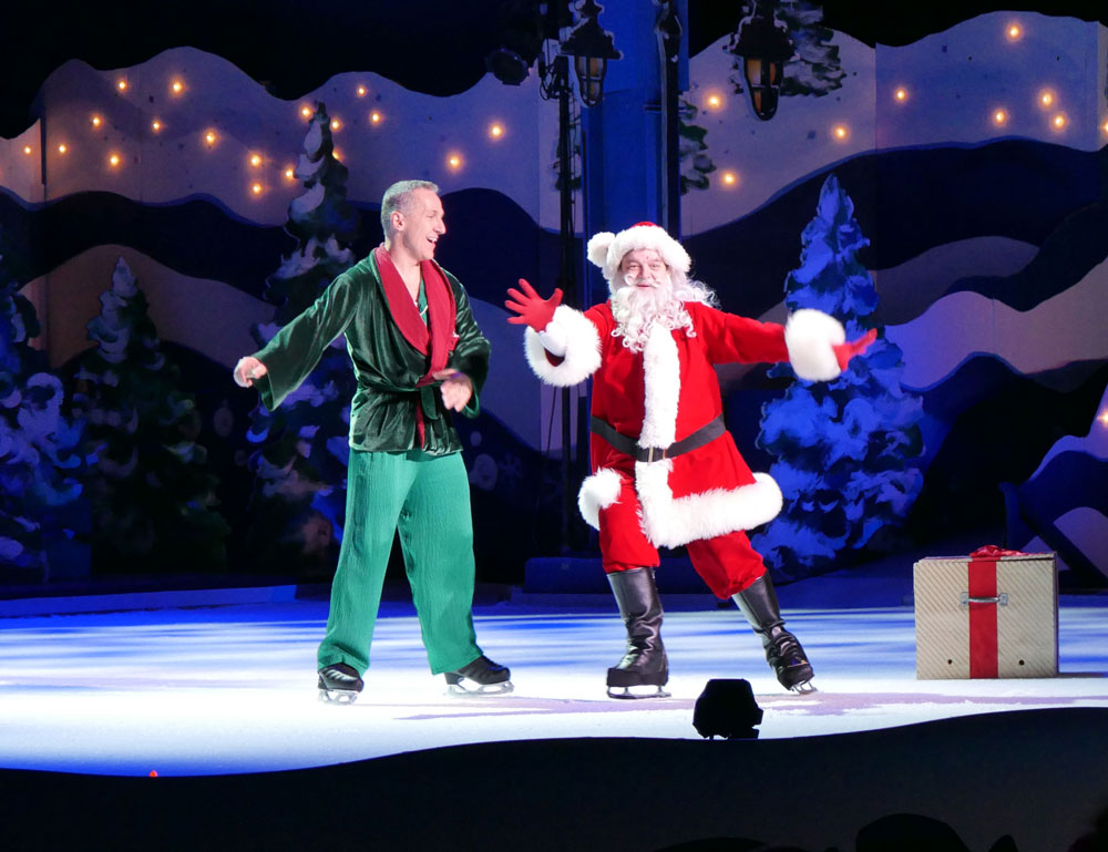Busch Gardens Christmas Town Twas That Night Skating Elvis Stojko
