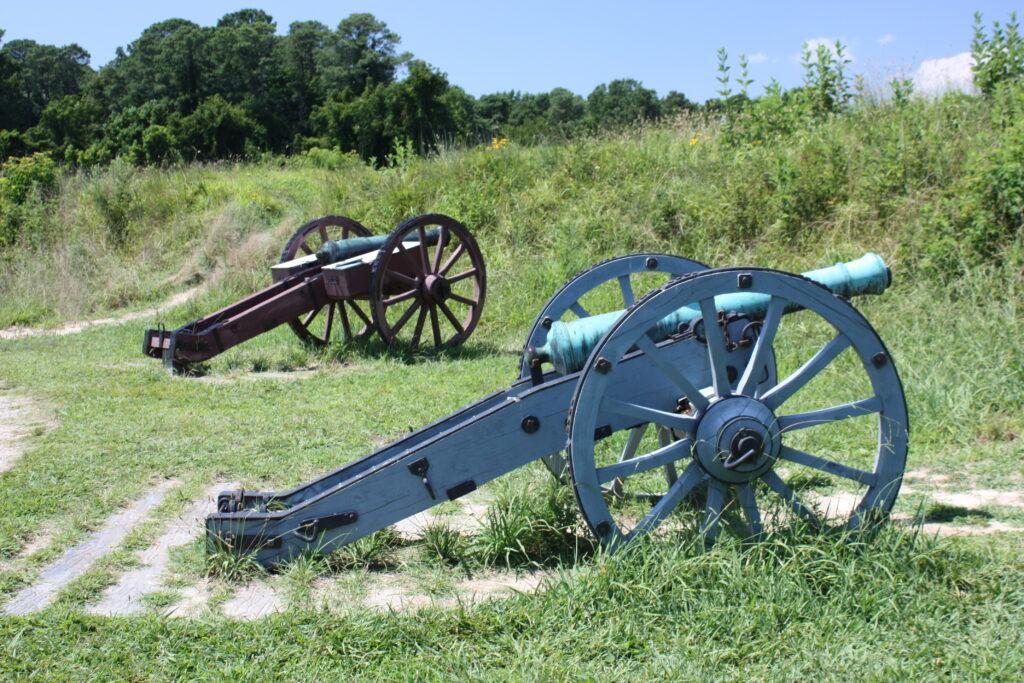 Yorktown Battlefield Canons Williamsburg VA Area Attraction Williamsburg VA Attraction