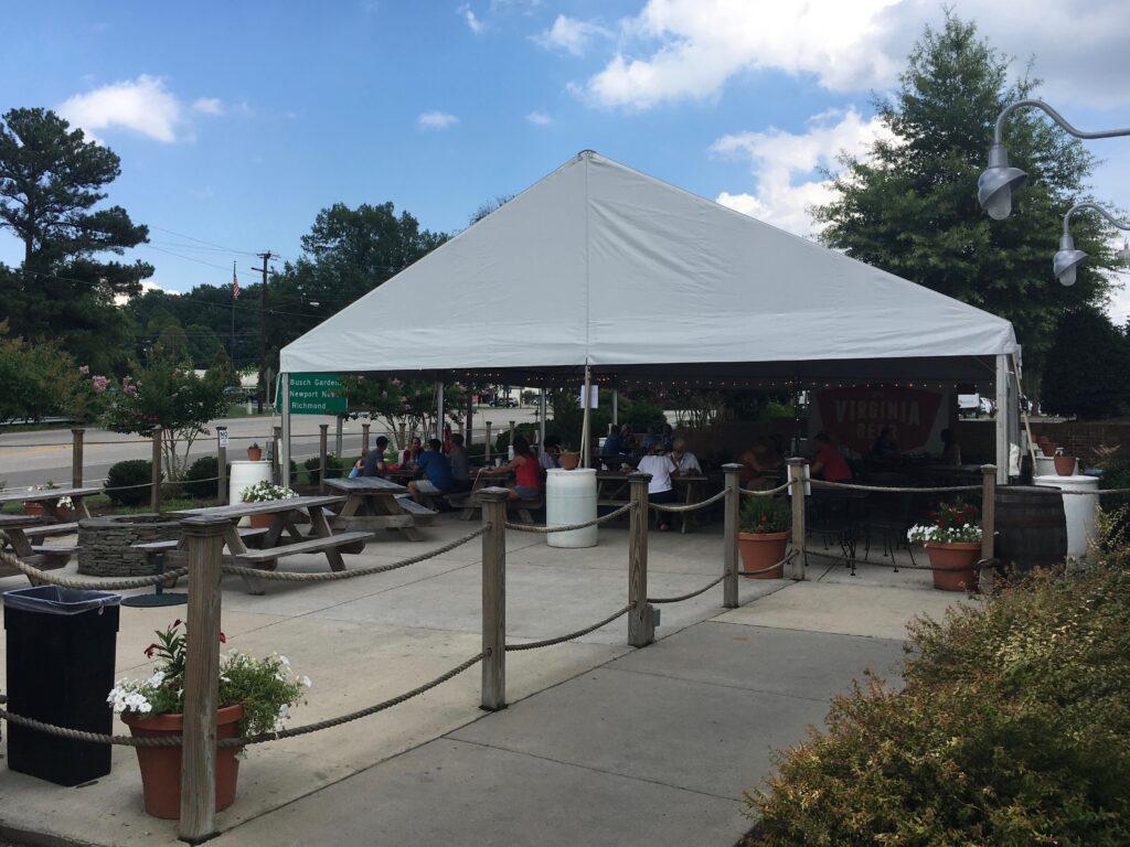 Virginia Peninsula Breweries Virginia Beer Outdoor Seating Williamsburg Craft Brewery