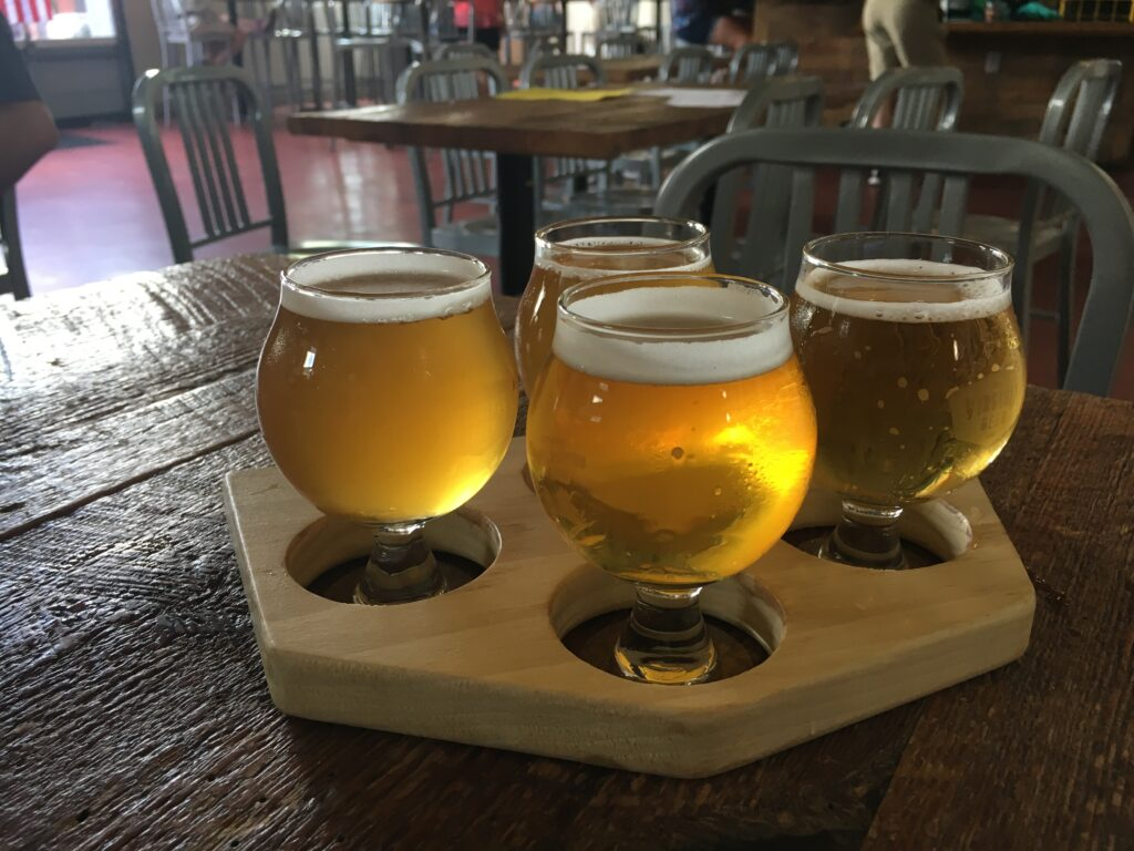 Virginia Peninsula Breweries Virginia Beer Sampler Flight Williamsburg Craft Brewery