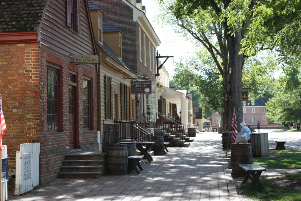 Duke of Gloucester Street Colonial Williamsburg VA