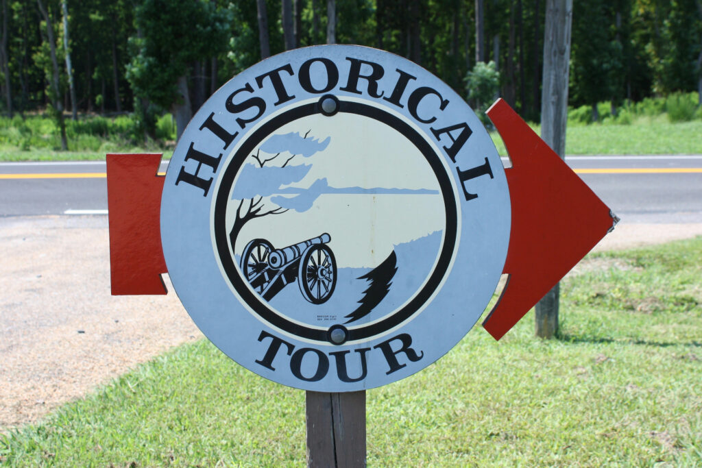 Yorktown Battlefield Tour Route Sign
