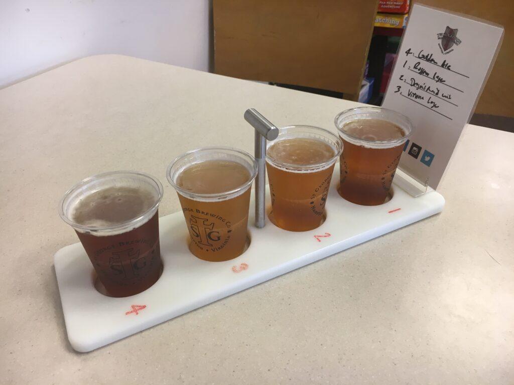 Virginia Peninsula Breweries St George Brewing Co Beer Sampler Flight Hampton Craft Brewery