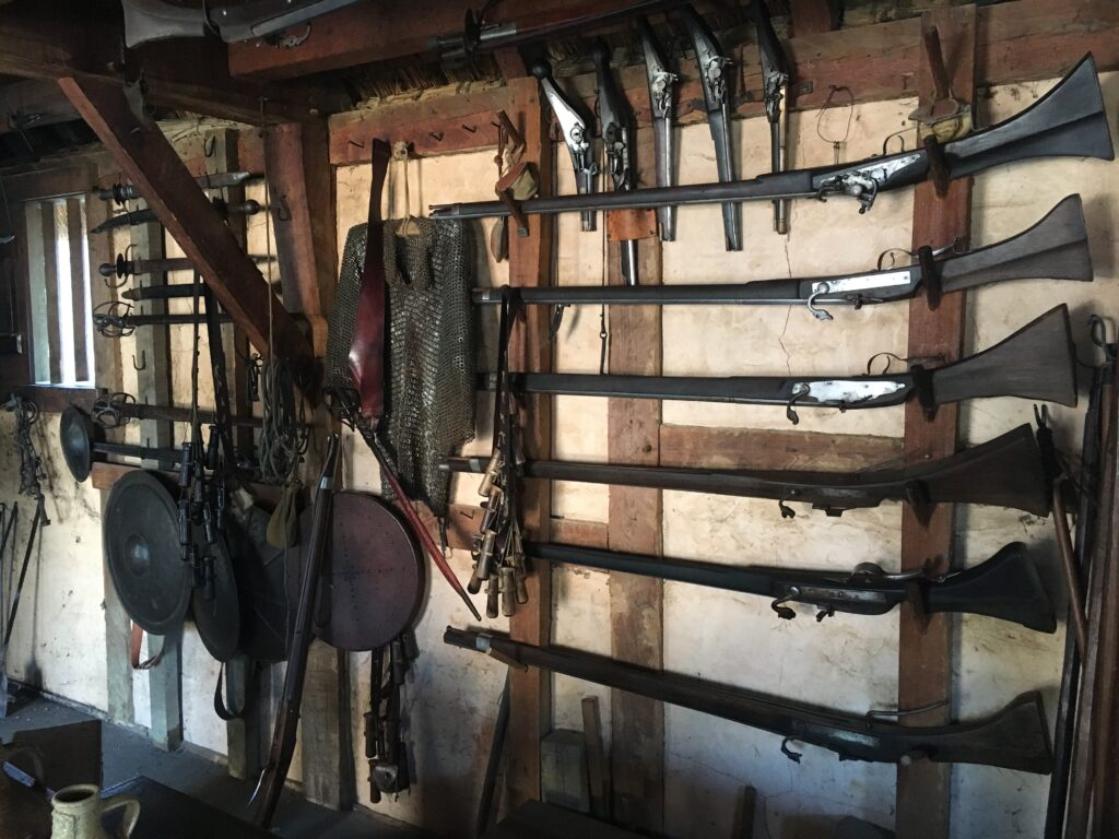 Jamestown Settlement Museum Jamestown VA Jamestown Fort Armory Inside