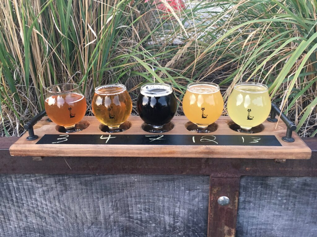 Virginia Peninsula Breweries St George Brewing Co Beer Sampler Flight Hampton Craft Brewery