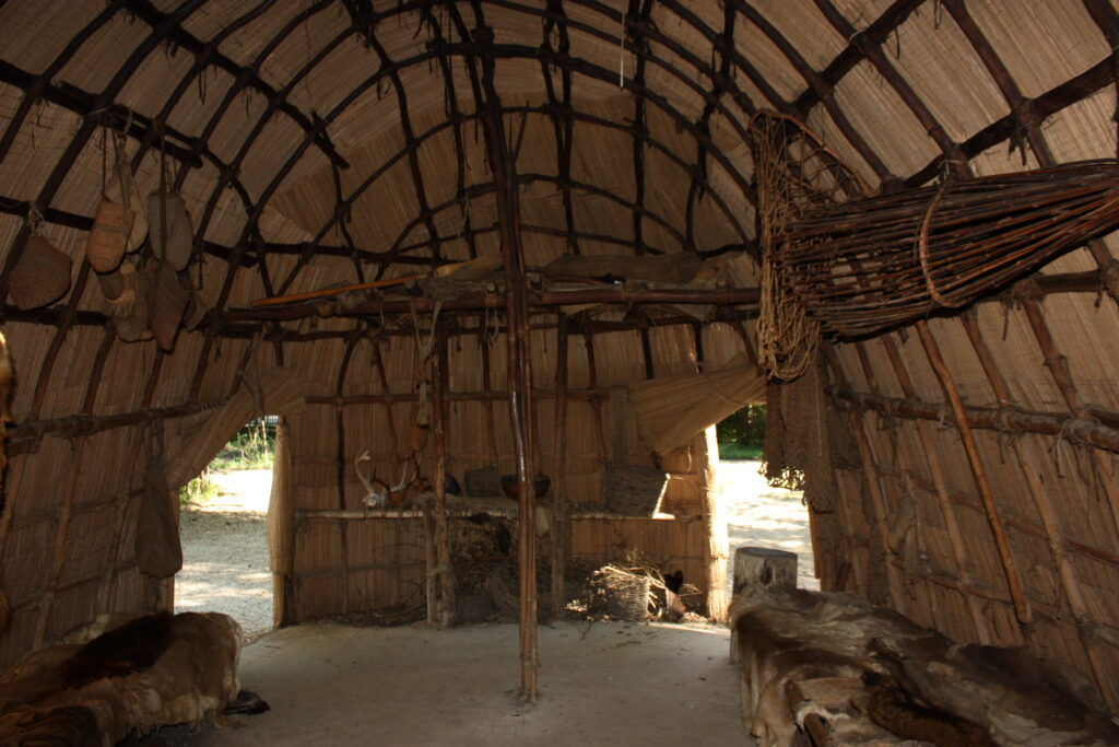 Jamestown Settlement Museum Jamestown VA Powhatan Village Inside