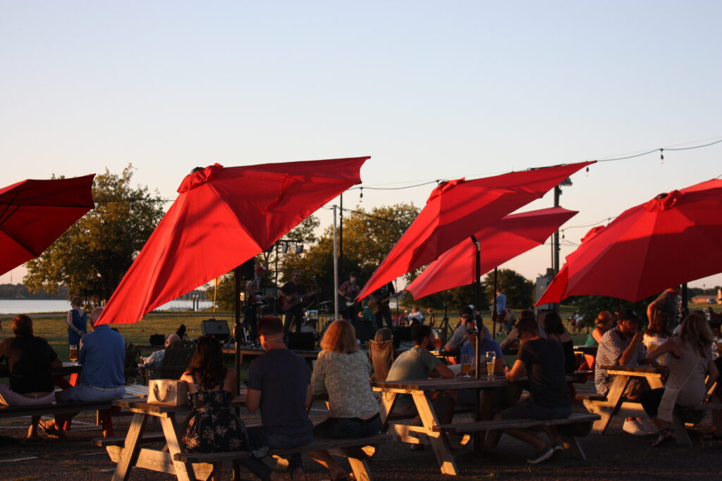 Virginia Peninsula Breweries St George Brewing Co Outside Patio Seating Hampton Craft Brewery