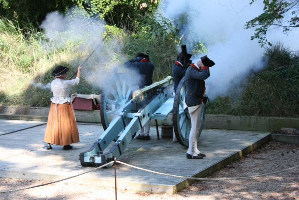 American Revolution Museum At Yorktown Canon Firing Demonstration