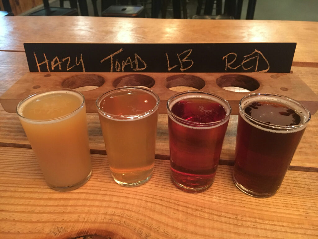 Virginia Peninsula Breweries Tradition Brewing Beer Sampler Flight Newport News Craft Brewery