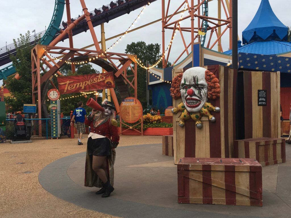 Busch Gardens Williamsburg Scare Zone Italy Clown Halloween