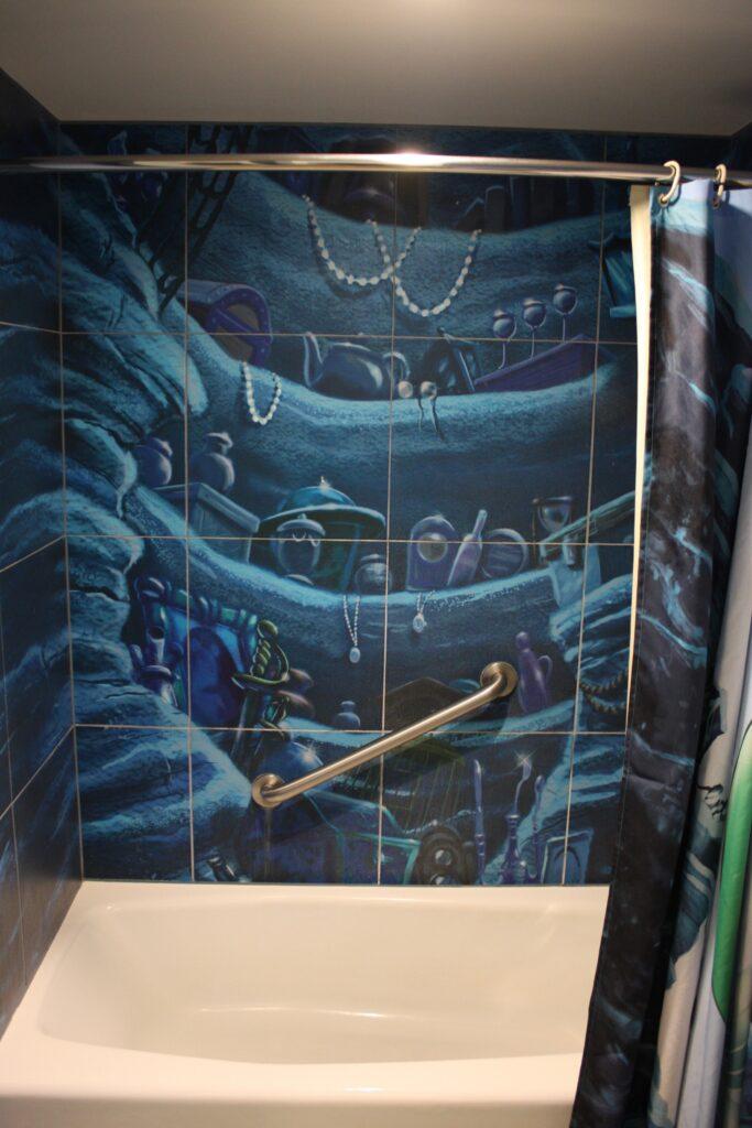 Disneys Art of Animation Little Mermaid Room Tiled Shower