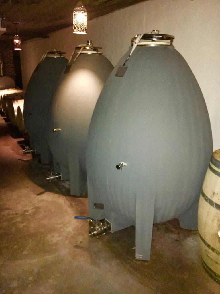 Williamsburg Winery White Wine Cellar Concrete Casks