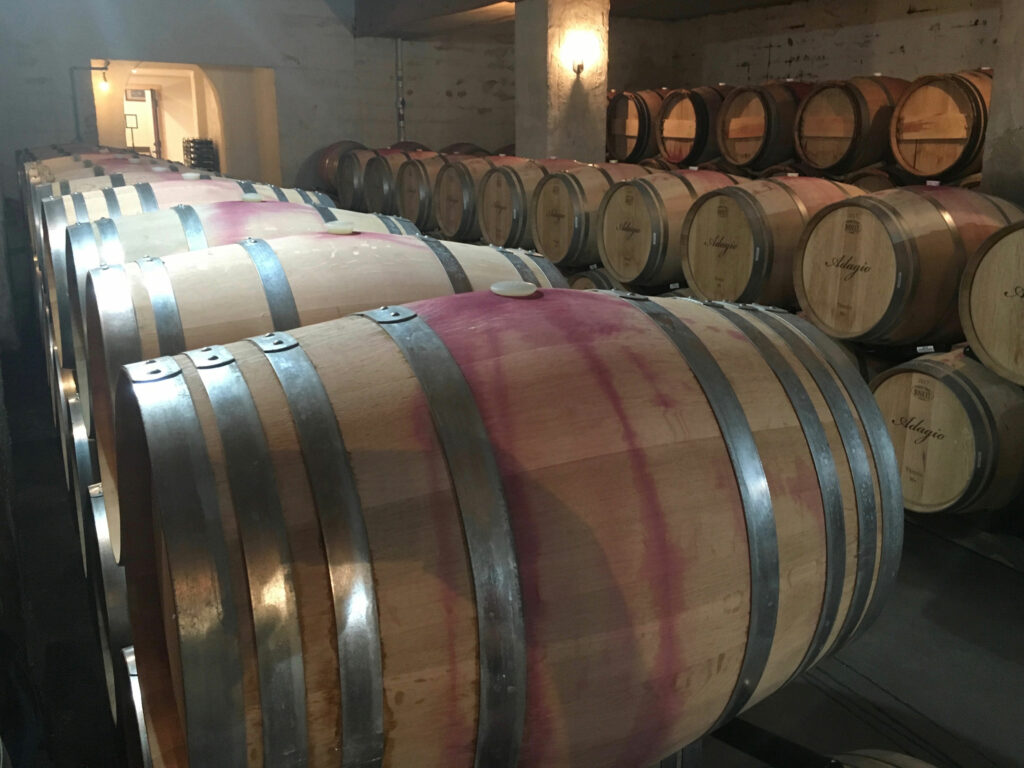 Williamsburg Winery Red Wine Cellar Wood Casks